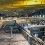 Blick in den Synchrotron-Ring auf die Experiment-Hütten.
